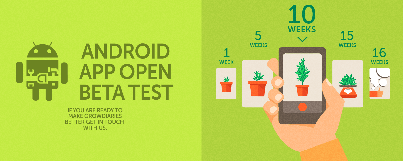 android app open beta test growdiaries p3