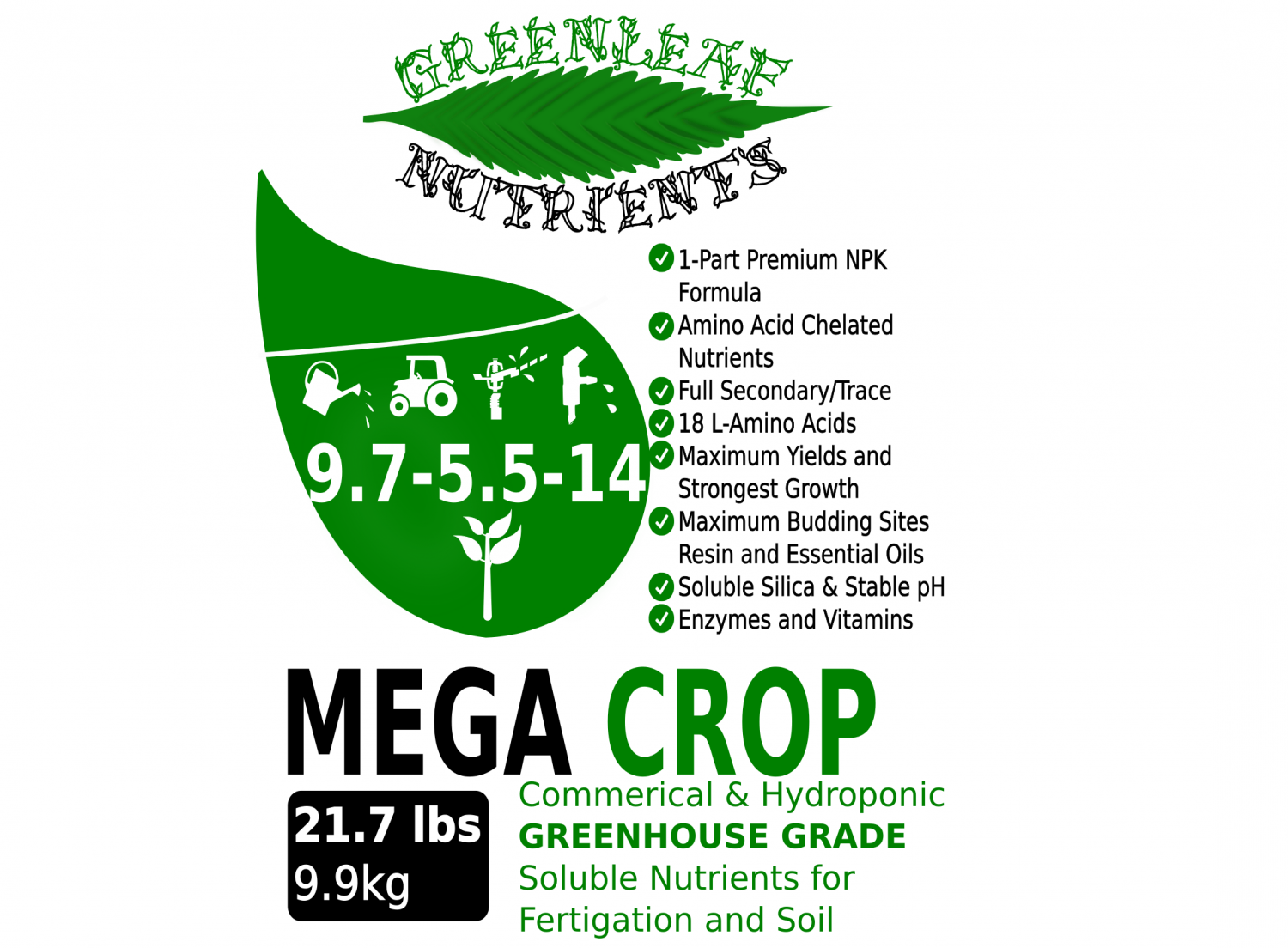 Greenleaf Nutrients - MEGA CROP